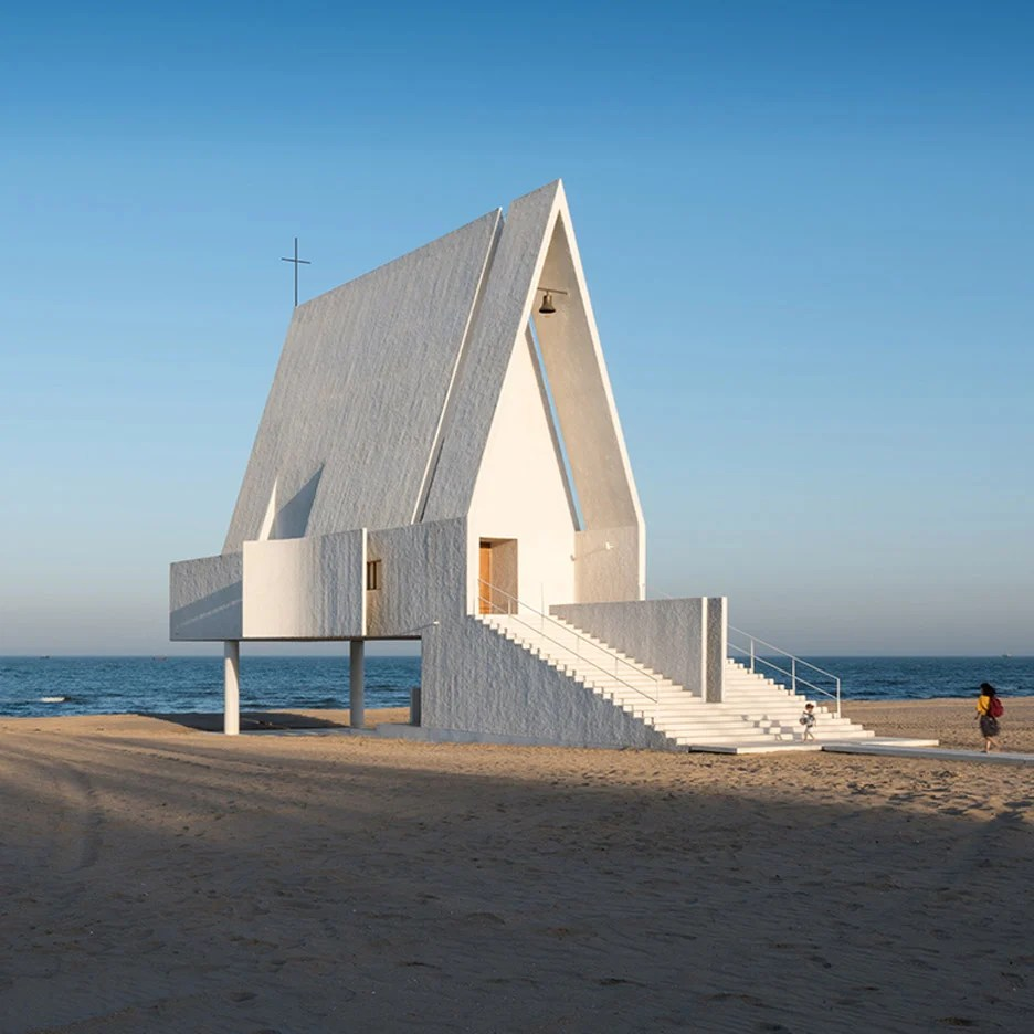 Tidal Waters Wash Underneath Seashore Chapel By Vector