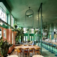 Bar Botanique in Amsterdam by Studio Modijefsky is filled with tropical plants