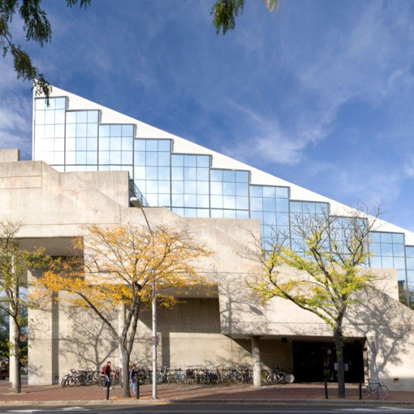 Gund Hall, Harvard Graduate School of Design. Photograph by Peter Vanderwarker