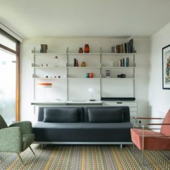 Cherry Furniture Living Room About Wood Partitions And Zigzag Patterned Carpet Added To Barbican Azman Architects Adds Flat