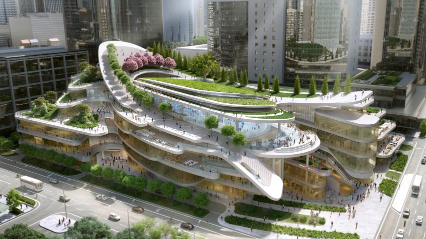 Sledding Path To Loop Around Roof Garden Of Beijing Civic