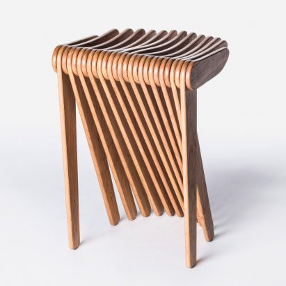 wood stool chair design portable baby high seat and product news dezeen carlo ratti experiments with programmable to make swish for cassina
