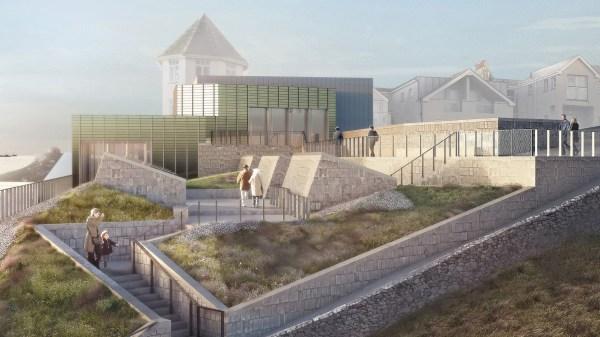 Jamie Fobert' Cliffside Extension Tate St Ives Nears Completion. Dezeen - Howldb