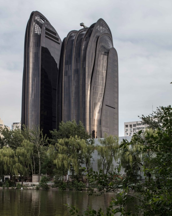 Mad Mountain-shaped Tower Complex Nears Completion In Beijing