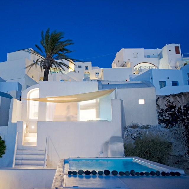 Greek island homes