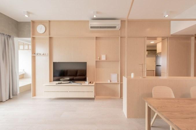 Mnb Design Studio refurbishes compact apartment in Hong Kong