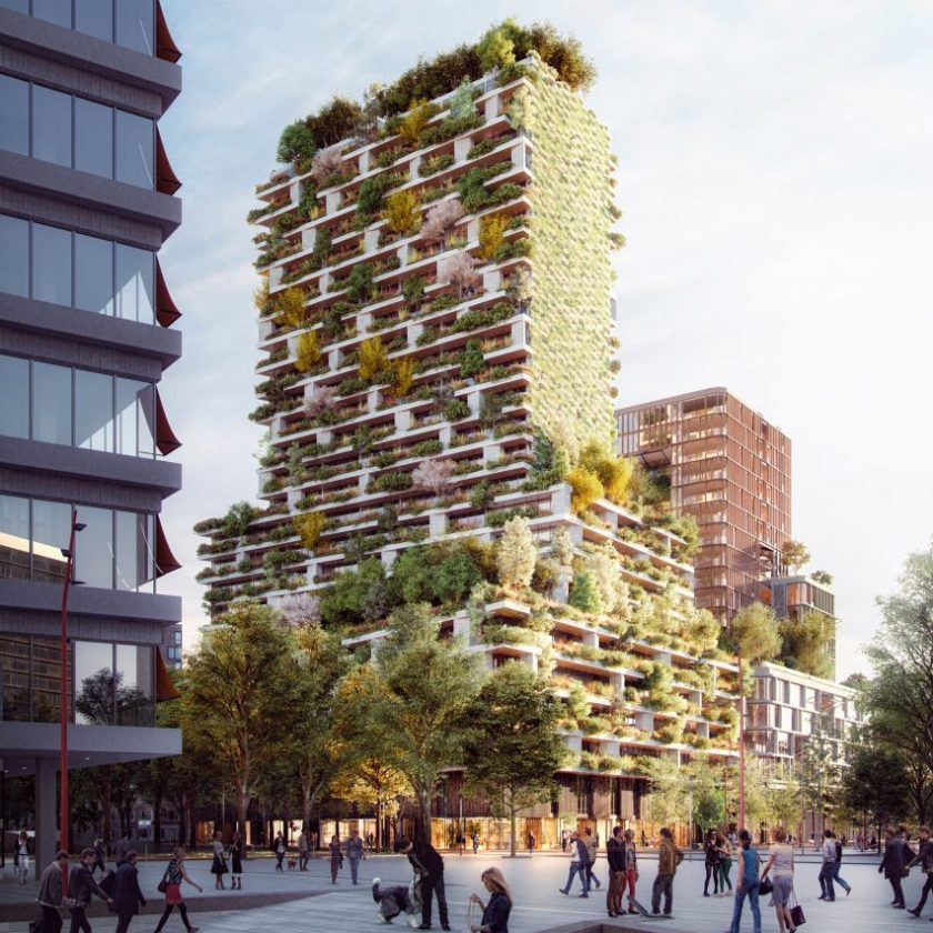 Stefano Boeri vertical garden in Utrecht