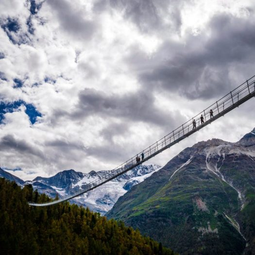 Charles Kuonen Suspension Bridge by Swissrope