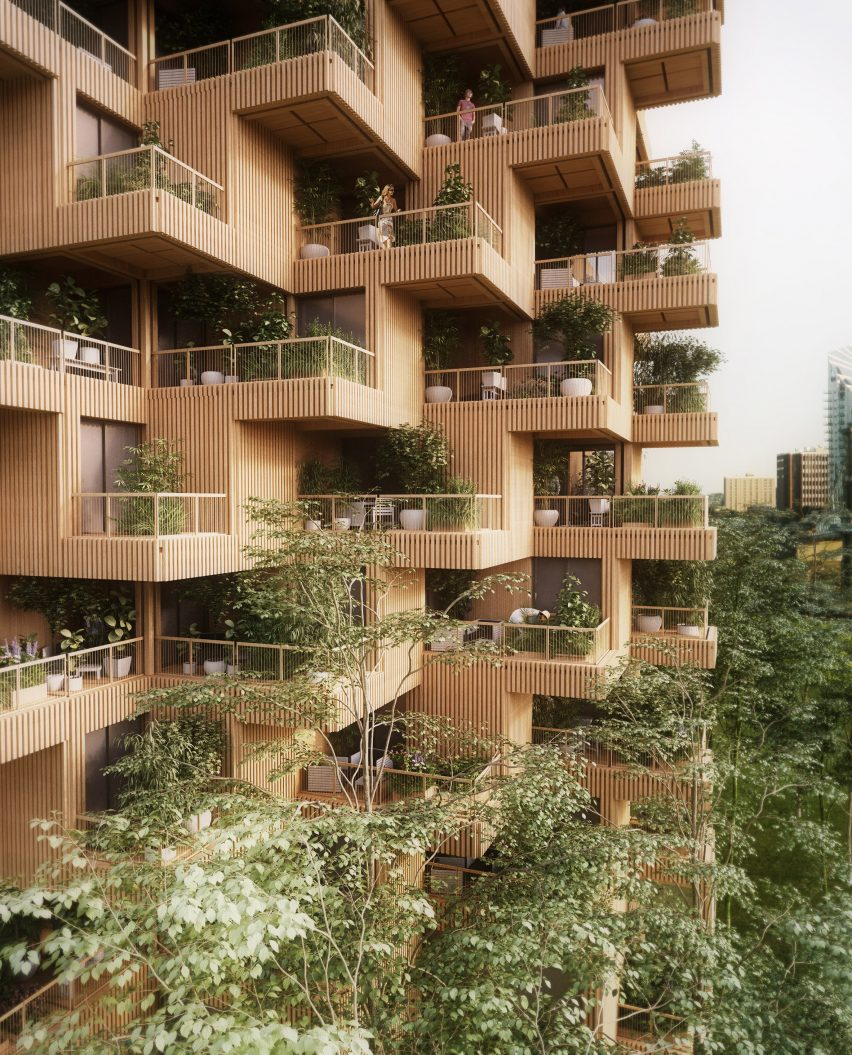 Penda proposes Toronto Tree Tower built from crosslaminated timber modules