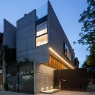Architecture firm Dieguez Fridman designs concrete Corner House in Buenos Aires