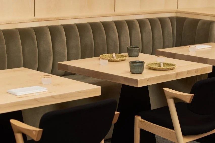 chair design restaurant dental dimensions sybarite bases japanese interior on bamboo forests yen by architecture