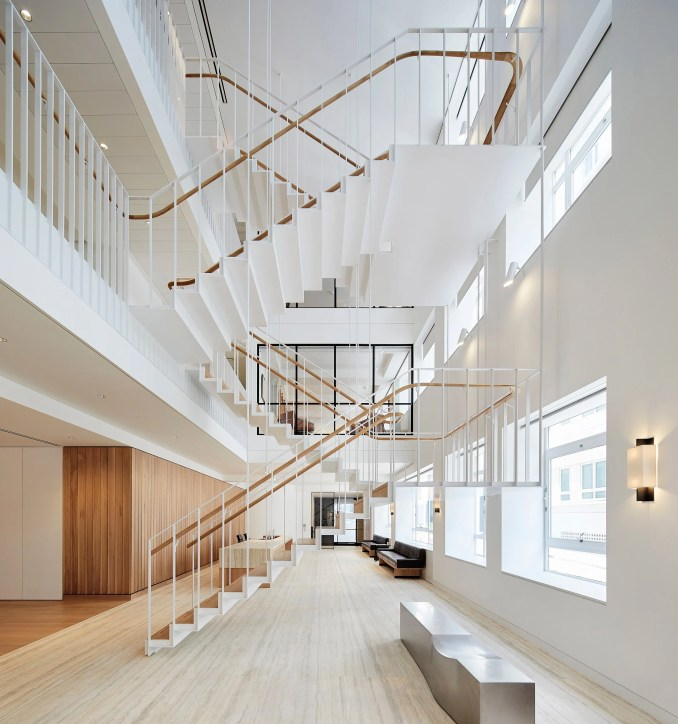 Piercy & Company Suspends Steel Staircase In New Atrium Of