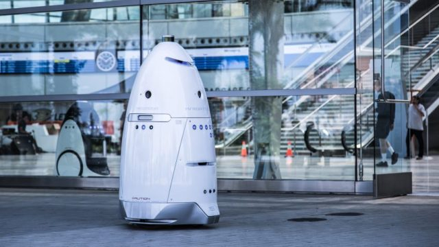 Image result for Security robots are being used to ward off San Francisco's homeless population