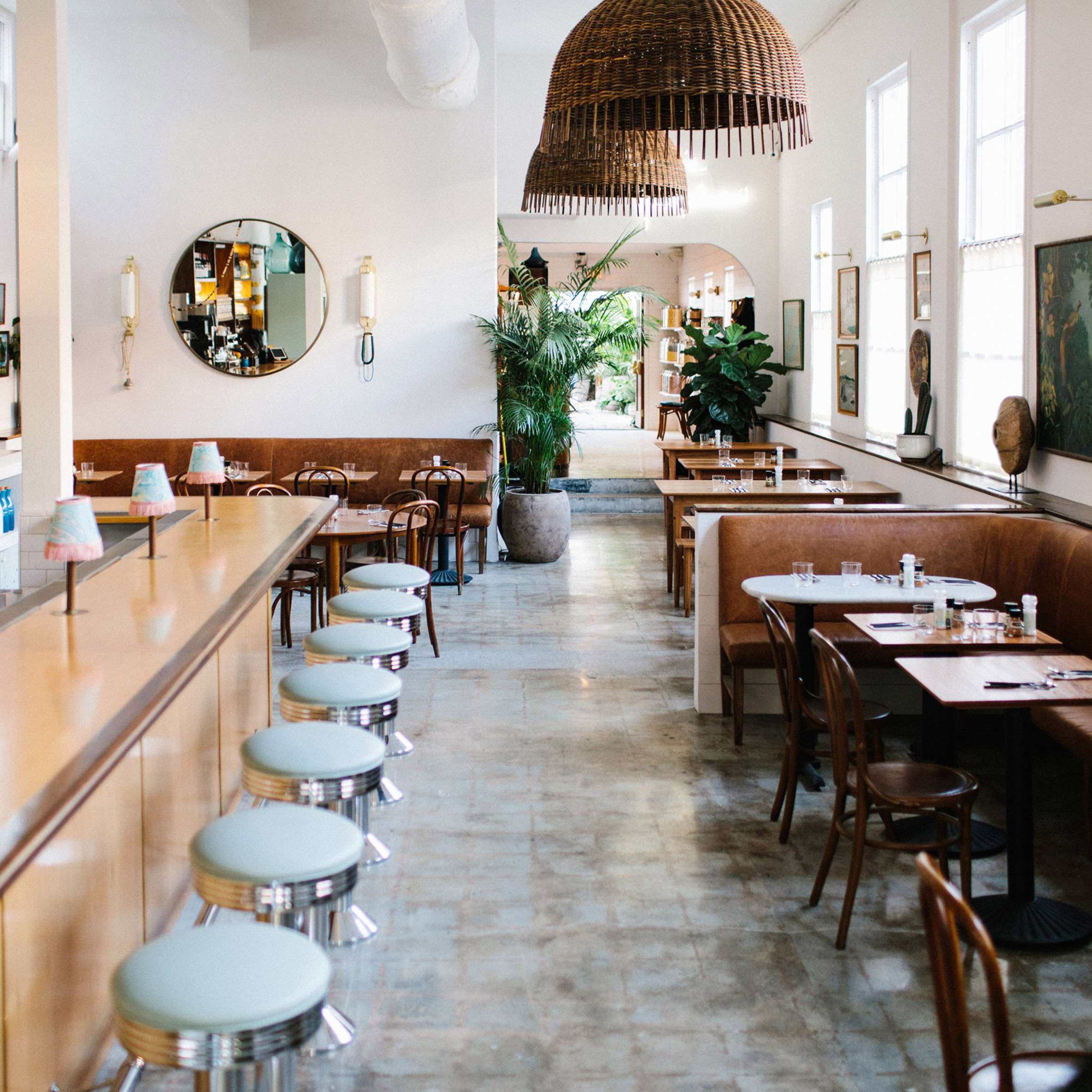 Vintage objects populate restaurant in Charleston by Basic