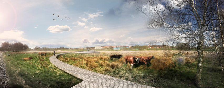 Storkeengen by C. F. Møller
