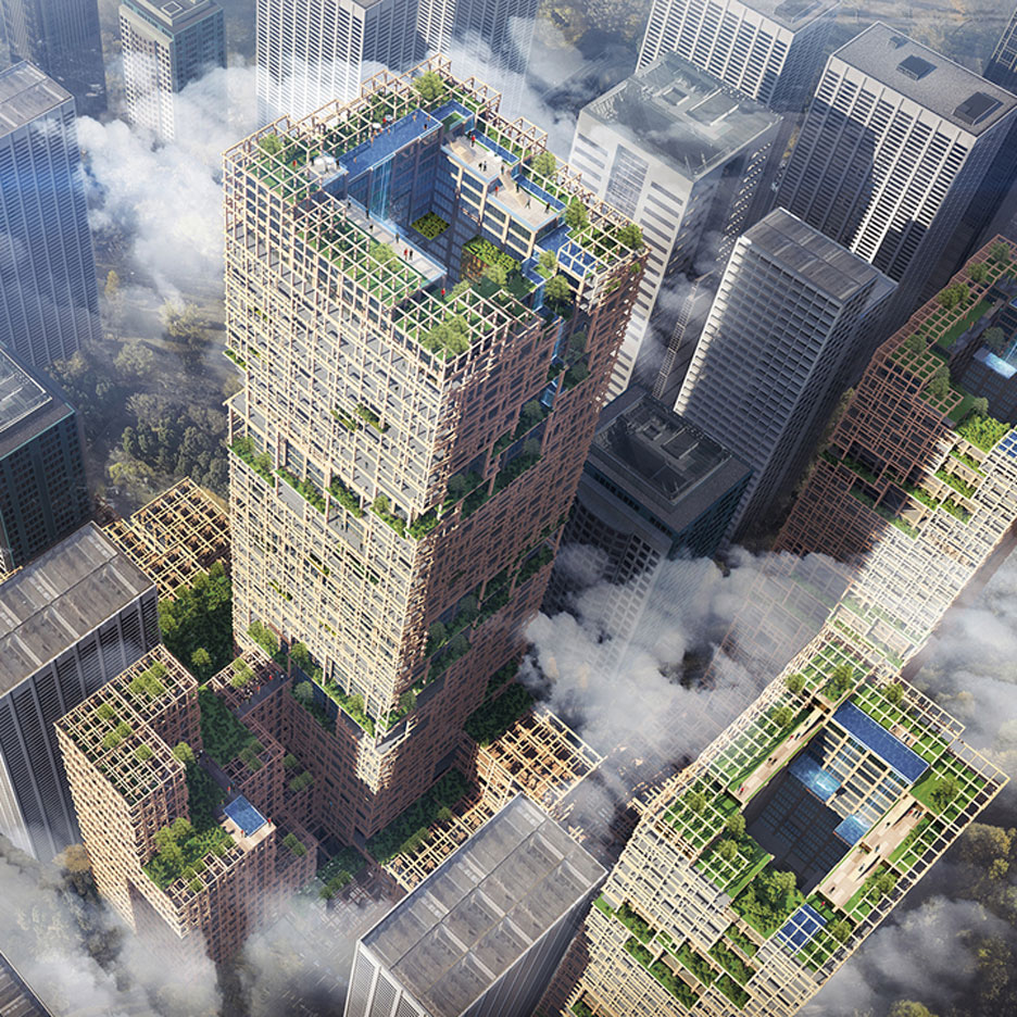 Worlds tallest timber tower proposed for Tokyo