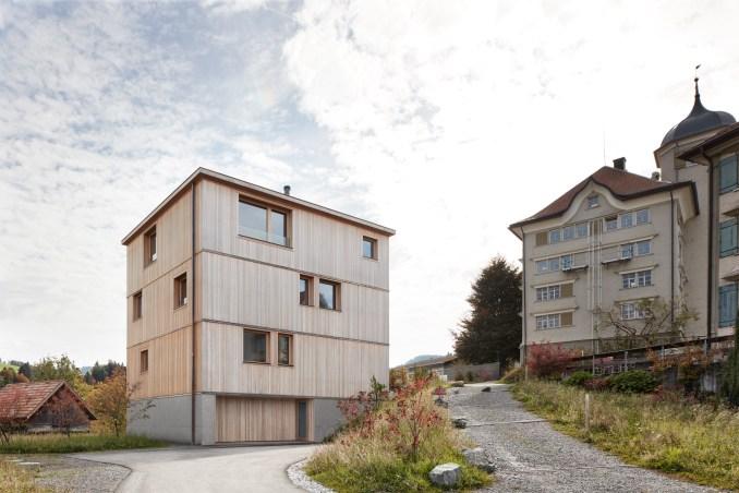 House at the Schopfacker by Bernardo Bader