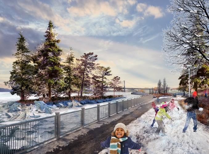 Detroit West Riverfront Park by MVVA and David Adjaye