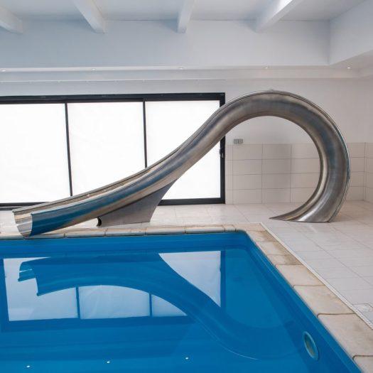 Design studio Splinterworks has created a sculptural waterslide