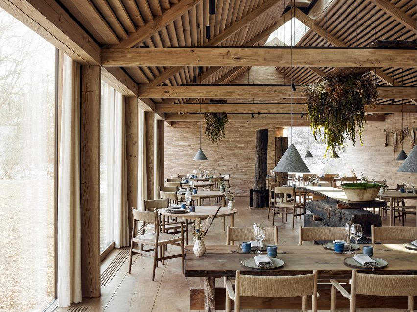 chair design restaurant wedding covers cambridge studio david thulstrup designs furniture for copenhagen noma meaning heritage in danish the arv collection is a contemporary that references traditional craftsmanship through its complex details