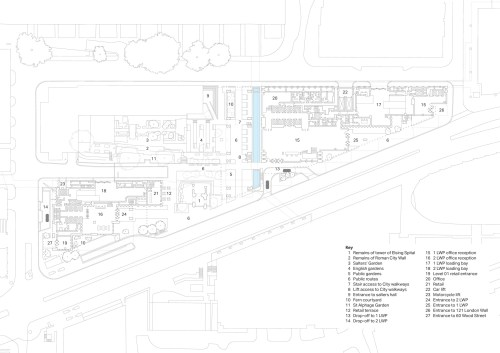small resolution of site plan london wall place by make