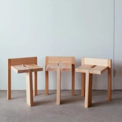 Wood Stool Chair Design Crate And Barrel A Half Product News Dezeen Studio Adjective Devises Easy To Assemble For Ishinomaki Laboratory