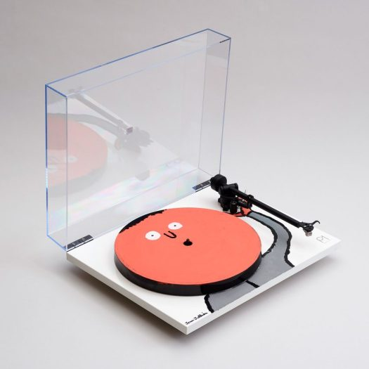 10 unique turntables decorated by celebrated artists and designers go up for auction for Planar 1/1