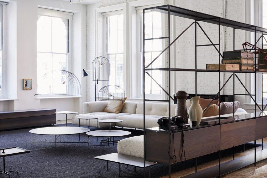 sectional sofas nyc showroom sofa store towson depadova opens spacious furniture in new york s soho de padova