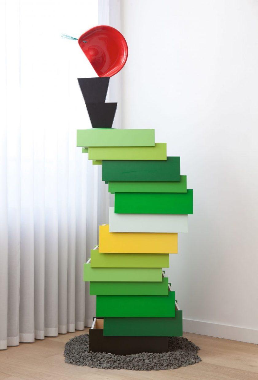 Lorenzo Vitturi repurposes Established & Sons furniture for sculptural installation