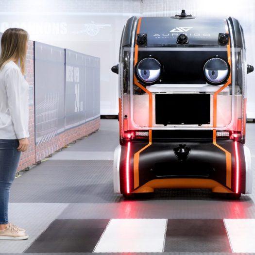 Jaguar Land Rover's prototype driverless car