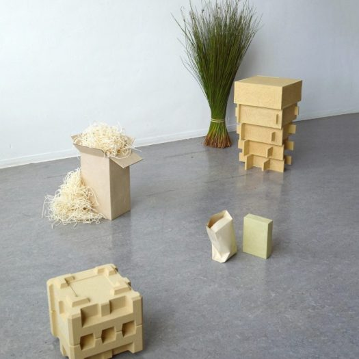 Don Kwaning makes furniture and packaging materials from a wetland weed