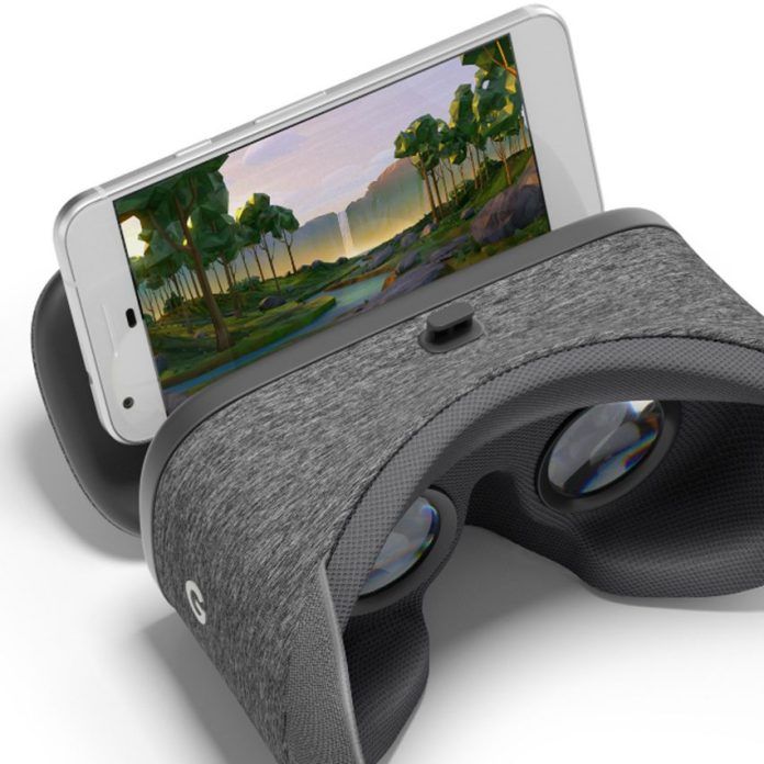Fabric-covered gadgets: Google Daydream View virtual-reality headset