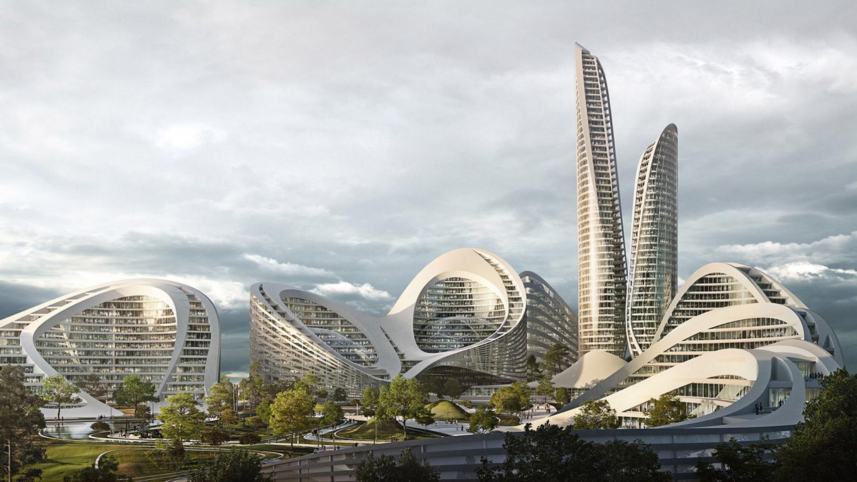 Rublyovo-Arkhangelskoye,Moscow smart city by Zaha Hadid Architects