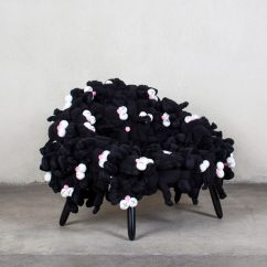 Stuffed Animal Chair Transport Accessories Kaws And Campanas Collaborate On Pink Black Soft Toy Chairs These Plush Characters Are Recognisable As Cartoon Figures Used Frequently By Who Draws Inspiration Appropriates From Pop Culture Animations To