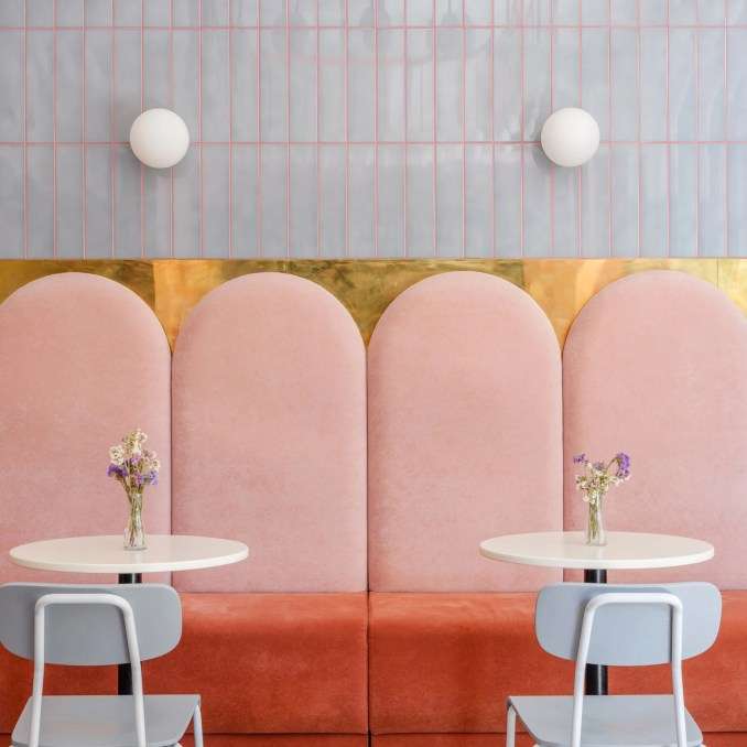 The best coral interiors: Breadway bakery by Lera Brumina and Artem Trigubchak