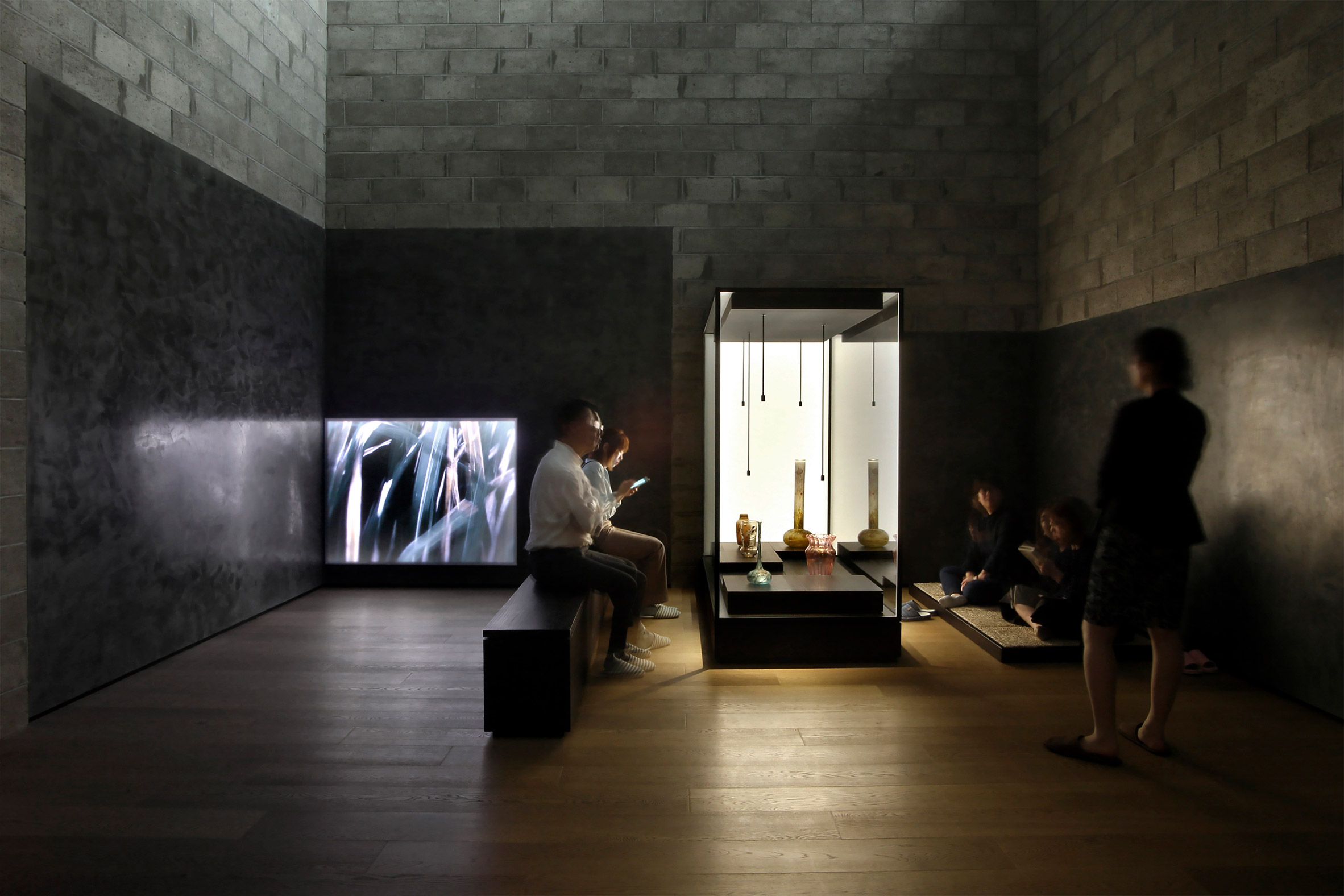 Interiors of Yumin Art Nouveau Collection exhibition designed by JAC Studios