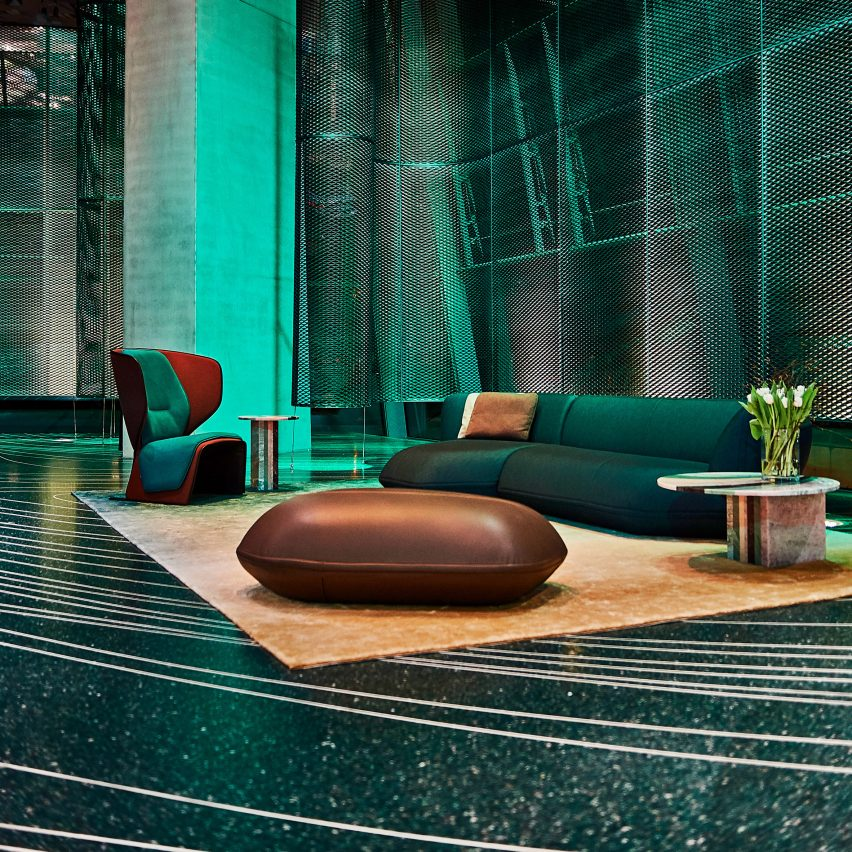 Patricia Urquiola Uses D-printing To Create Terrazzo Floor For BMW