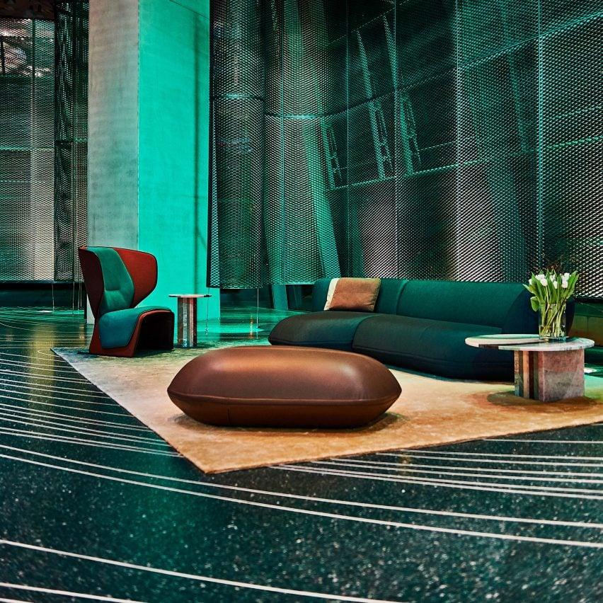 Patricia Urquiola Uses D-printing To Create Terrazzo Floor For BMW