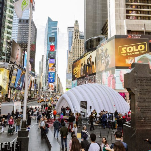 Times Square during NYCxDesign 2018