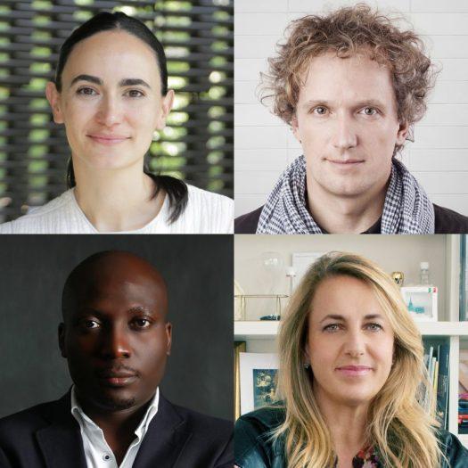 Dezeen Awards 2019 judges Patricia Urquiola, Yves Behar, Frida Escobedo and Kunlé Adeyemi