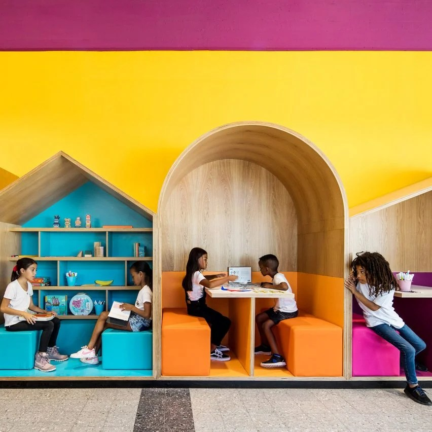 Colourful Booths Enliven Hayarden School For Children Of Refugees In Tel Aviv