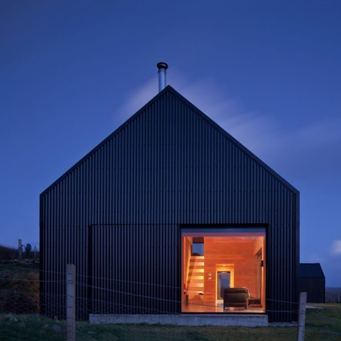 Black Shed House On The Isle Of Skye Has Fir Interiors And