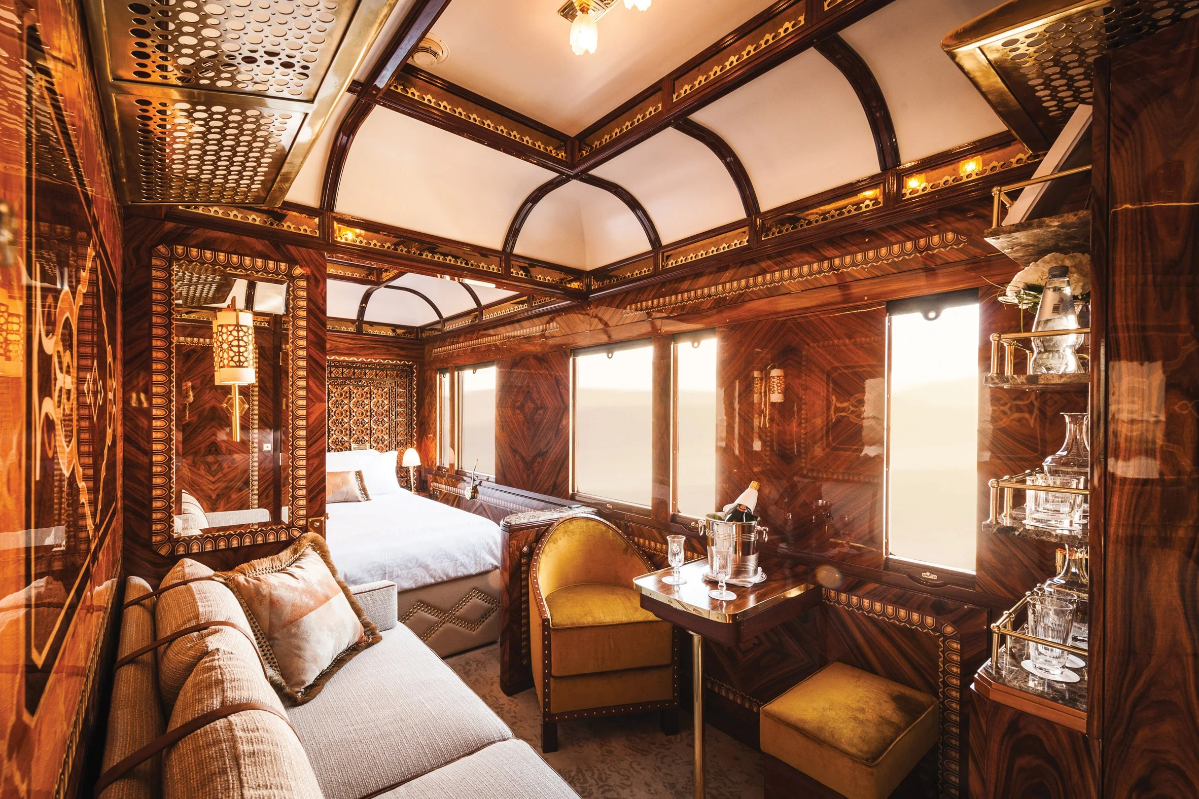 The Belmond Simplon-Orient Express won the Suites category at the AHEAD Global awards, which were held at the Ham Yard Hotel in London