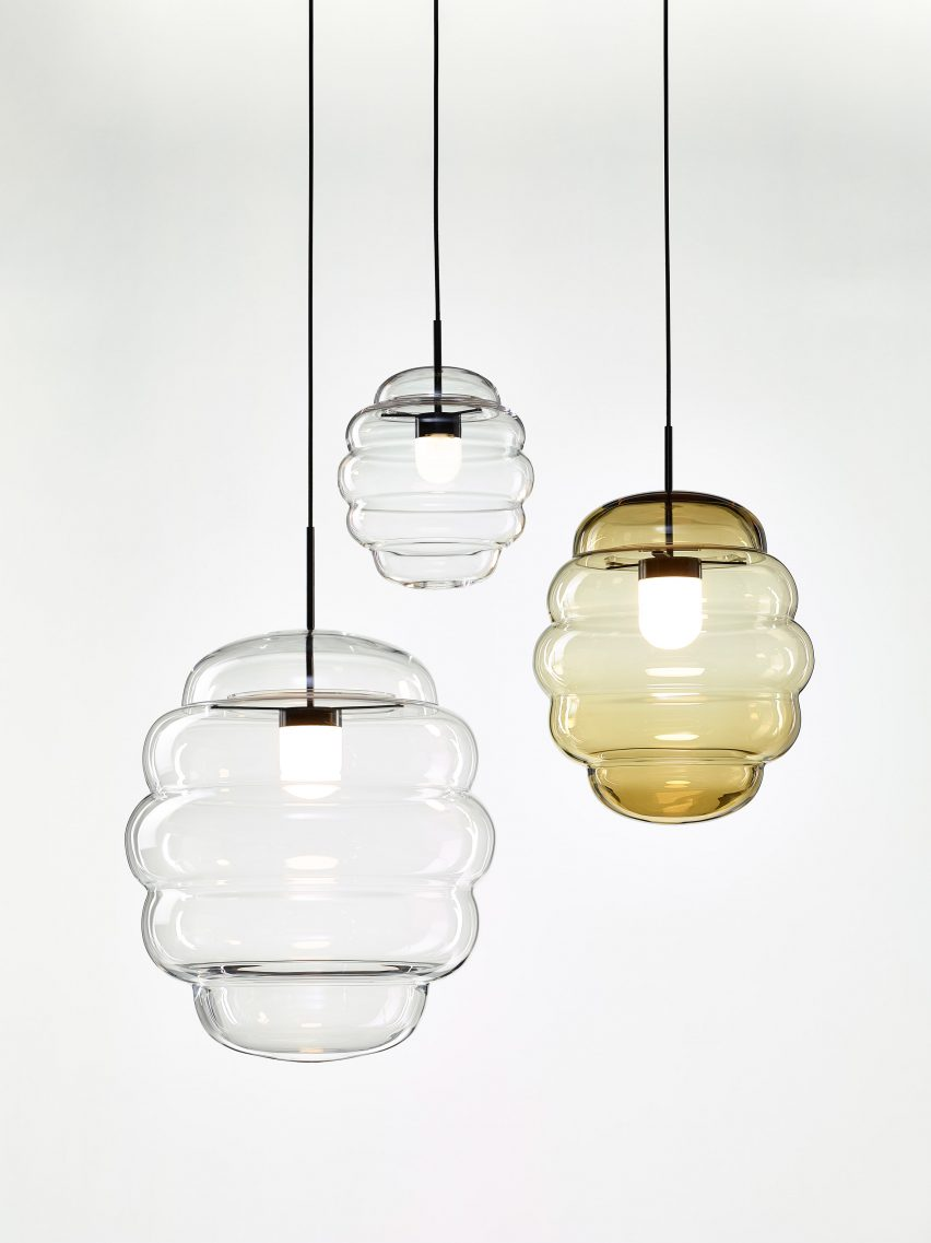bomma unveils blimp crystal lighting by
