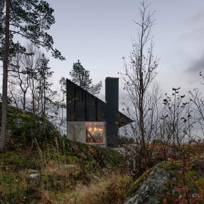 Cabin at Rones overlooking Beitstadfjorden by Sanden+Hodnekvam Arkitekter