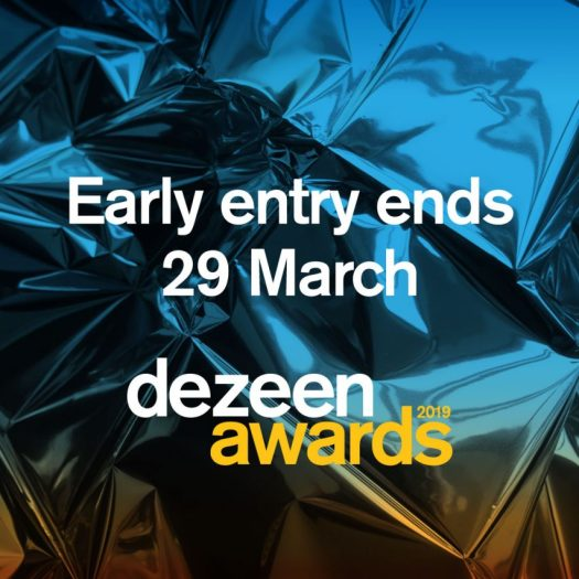 Dezeen Awards 2019 early entry ends 29 March