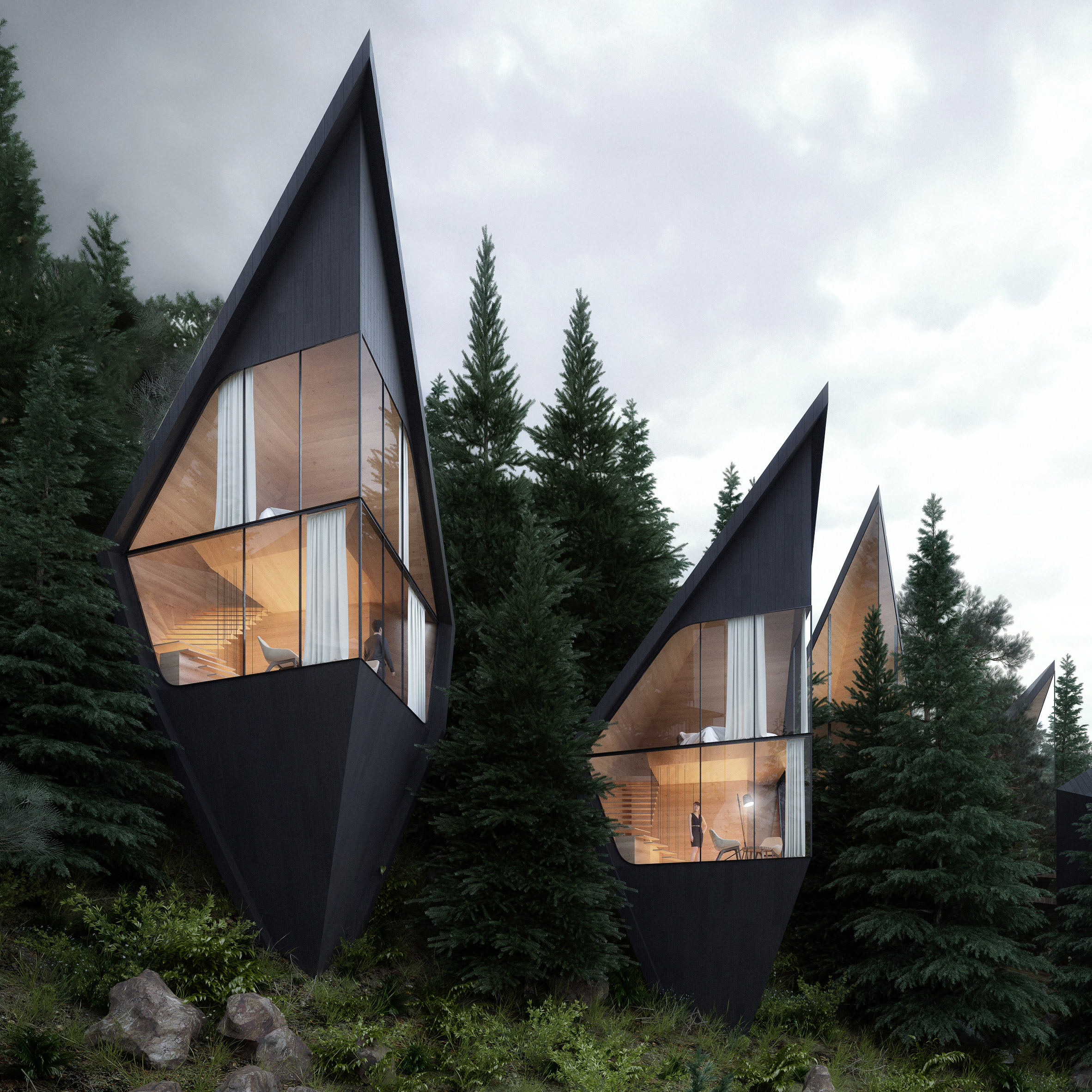 Peter Pichler Designs Tree House Hotel Rooms For Forest In