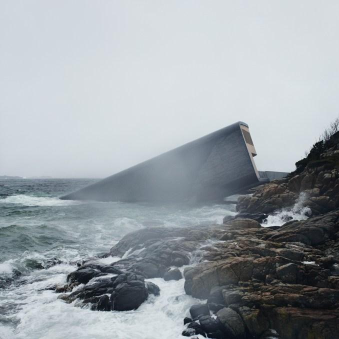 Europe's first underwater restaurant, Under, by Snohetta in Båly, south Norway