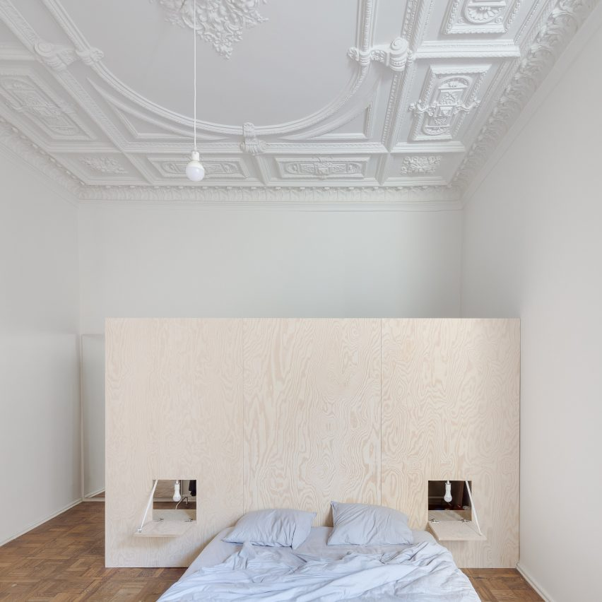 Ornate Plasterwork Ceilings Hint At This Vilnius Apartment's Grand Past