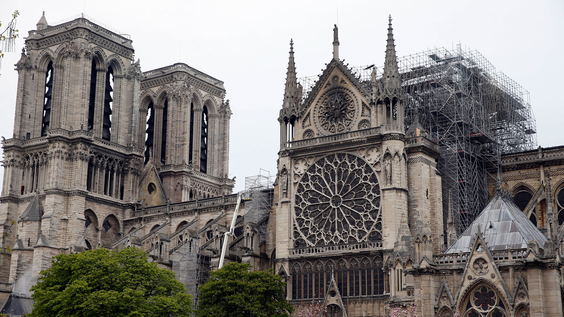 Notre-Dame Cathedral after fire